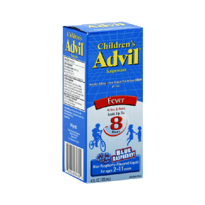 Children's Advil Ibuprofen Fever Reducer Pain Reliever Oral Suspension, Fruit Flavor _1