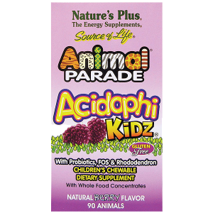 Nature's Plus Animal Parade AcidophiKidz Children's Chewables, Berry _1